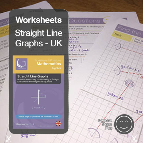 Straight Line Graphs & Equations Printables & Worksheets