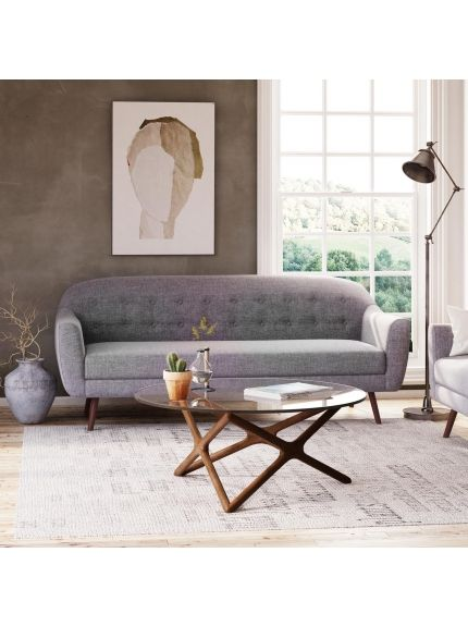 Casey Sofa-Grey Fabric