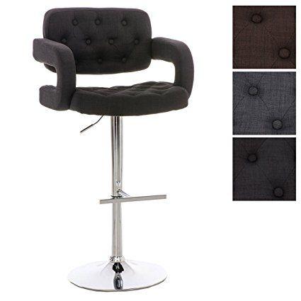 clp tabouret de bar de design dublin revêtu de tissu, chaise haute ... - Chaise Haute Pour Bar