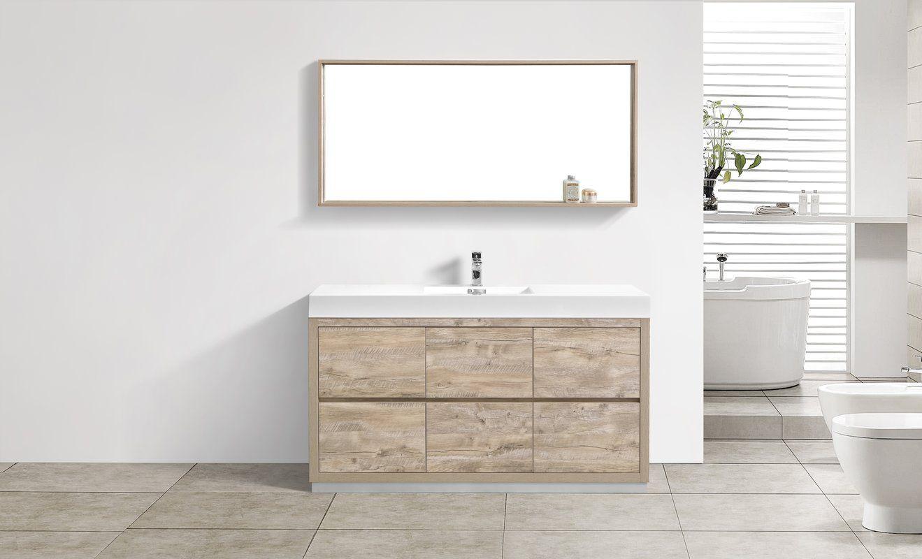 Malakai 59 Single Bathroom Vanity Set Modern Bathroom Vanity
