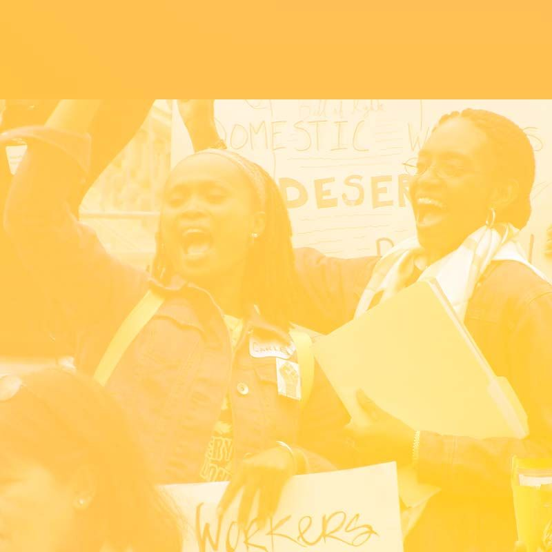 Domestic workers are still excluded from labor law protection. Workers unite for justice.