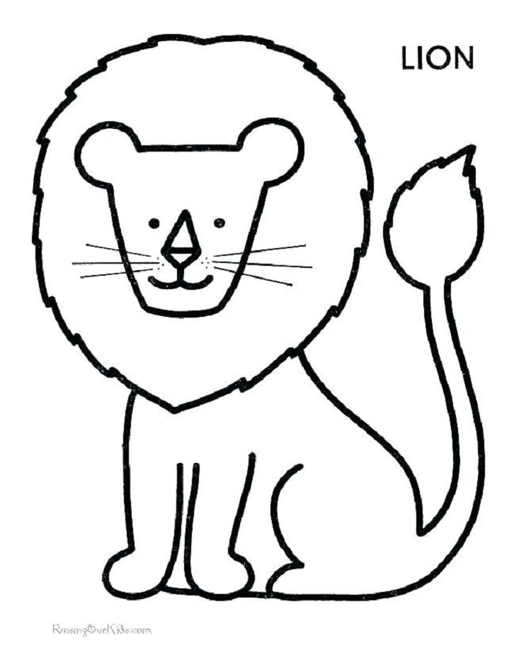 Pin By Mama More On 1 Year Old Shapes Coloring Sheets Lion Coloring Pages,  Kindergarten Coloring Pages, Preschool Coloring Pages
