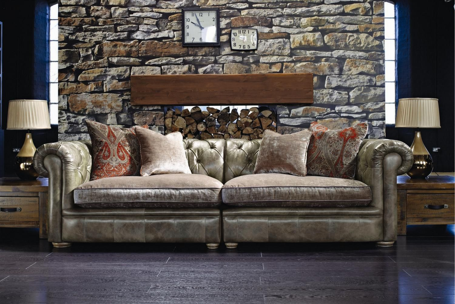 Alec Leather Sofa Collection Buy Used Online Alexander And James Franklin From