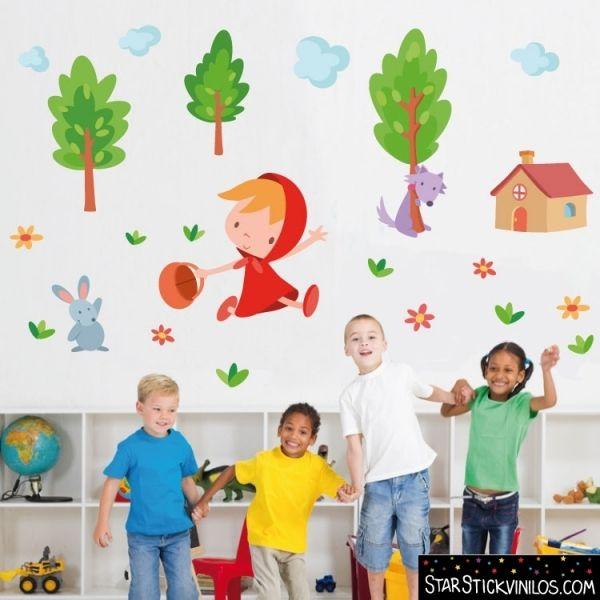 Caperucita roja vinilos infantiles ideas para decorar for Ideas para decorar paredes