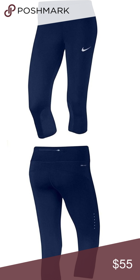 23949f6bc Nike Womens' Epic Run Crop Tights XL Blue 100% AUTHENTIC! NEW WITH TAGS