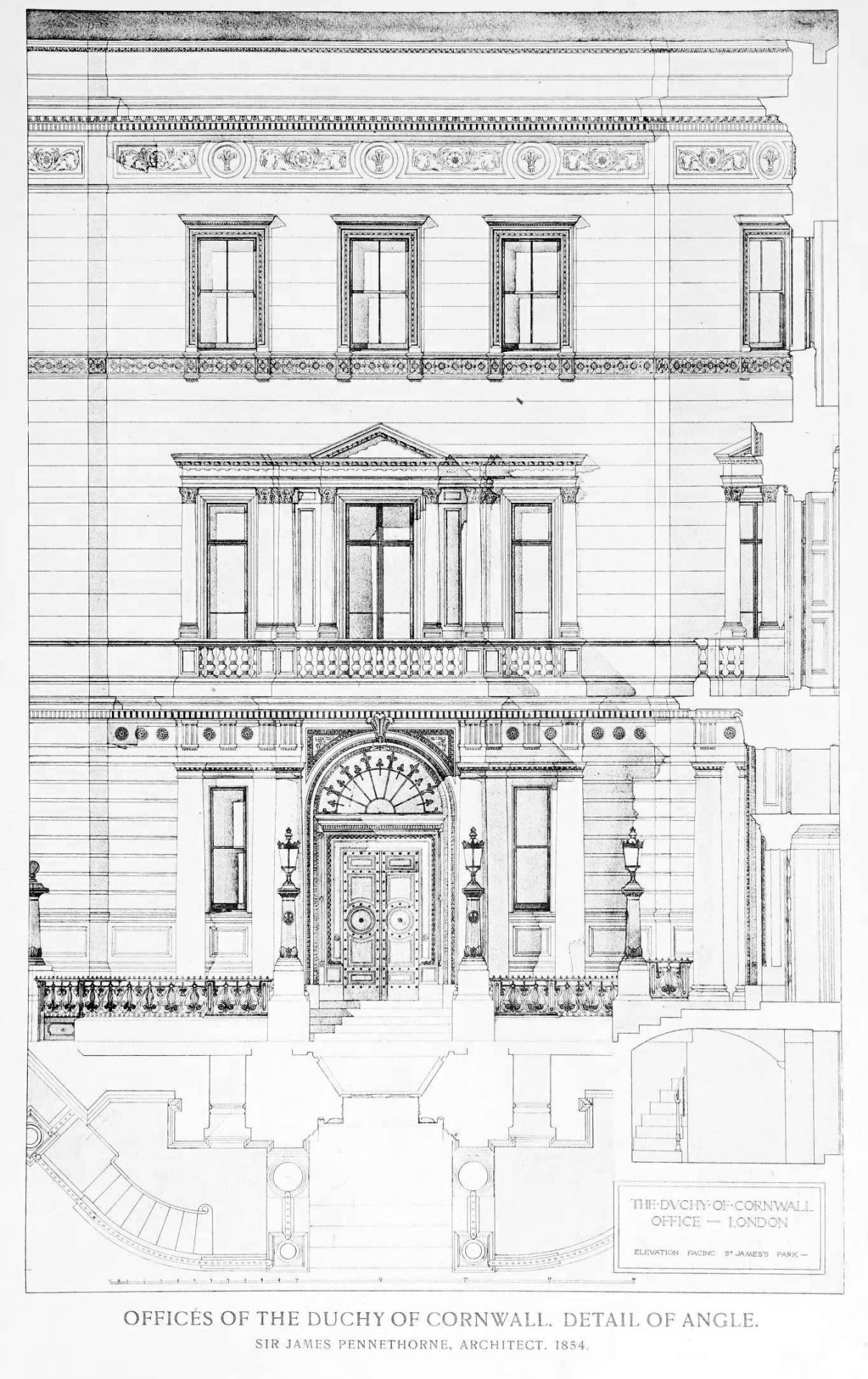 Dallas texas french chateau home photograph 4540 - Elevation Of The Offices Of The Duchy Of Cornwall London