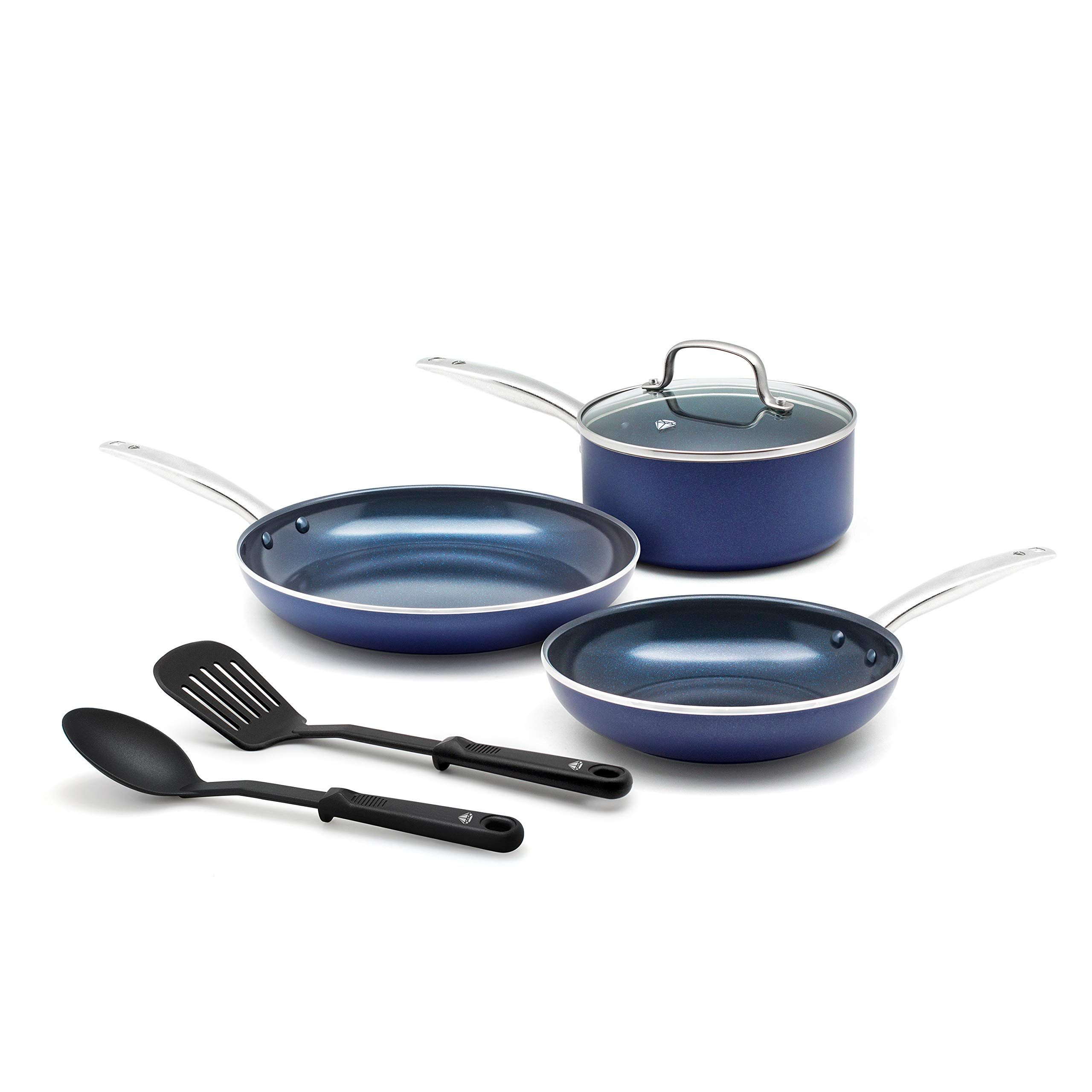 Healthy Pan Grilled Barbecue Shrimp Gastrocoach Cookware Set Ceramic Nonstick Cookware Ceramic Cookware Set