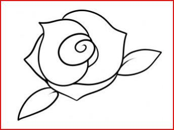 How To Draw A Simple Rose Design Using A Spiral Roses Drawing Flower Drawing Rose Drawing Simple