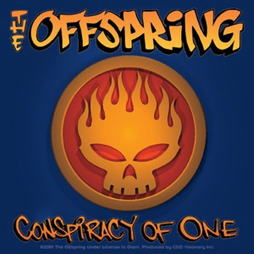 The Offspring Vinyl Sticker Square Conspiracy Skull Logo In 2020 Skull Logo Vinyl Sticker Postcard