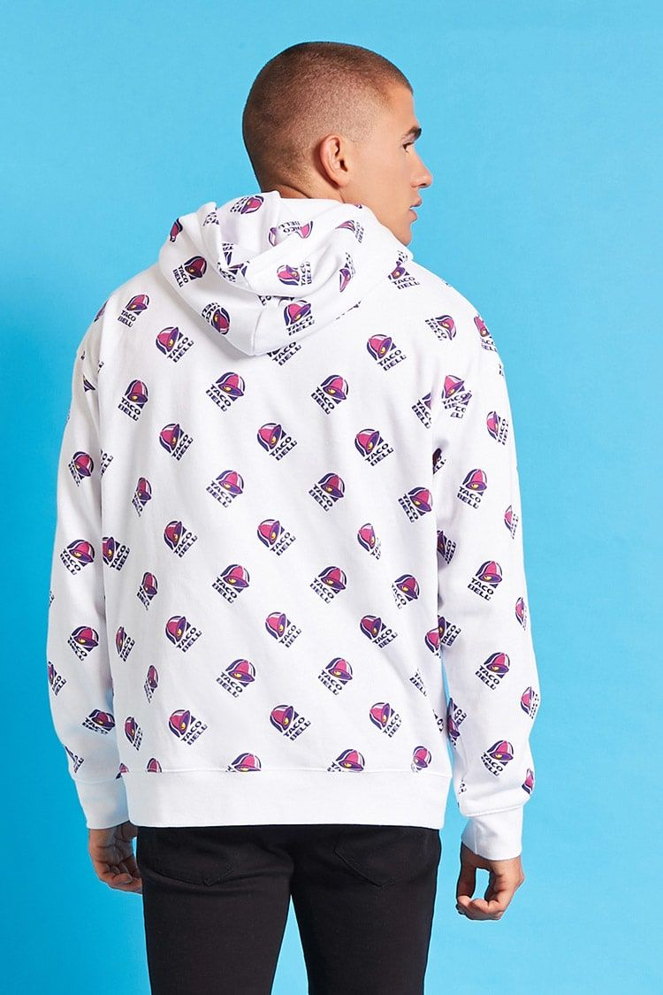 Product Name:Taco Bell Print Hoodie, Category:CLEARANCE_ZERO, Price ...