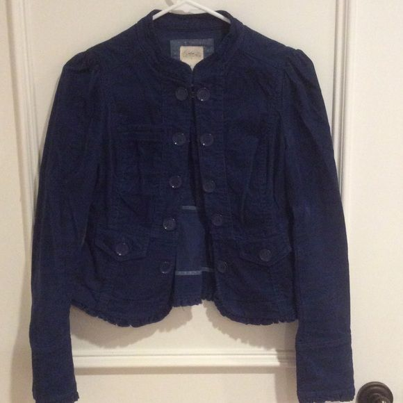 Cidra Corduroy Jacket - Size 0 Excellent condition, great details, color is navy (on the lighter side) Boutique Jackets & Coats