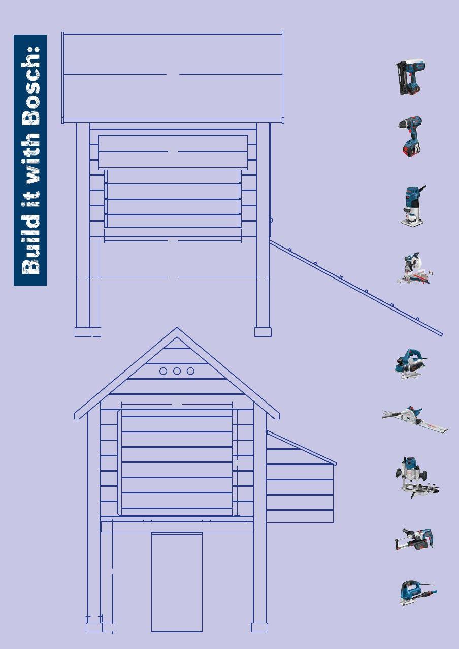 Build it with bosch chicken coop blueprint klussen pinterest build it with bosch chicken coop blueprint malvernweather Images