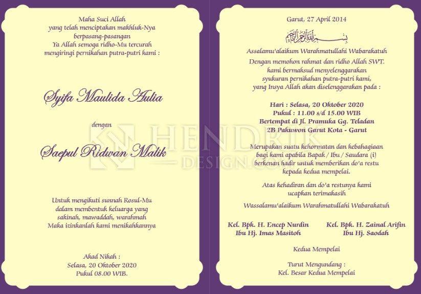 Pin Di Wedding Invitation