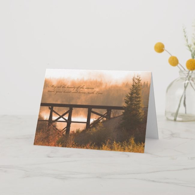 Thanksgiving Card  Autumn Scene Thanksgiving Card  Thanksgiving Card  Autumn Scene Thanksgiving Card