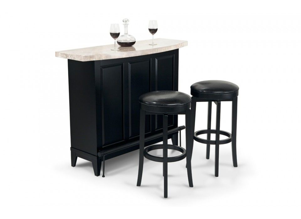Montibello Bar With Two Bar Stools Bars For Home Furniture