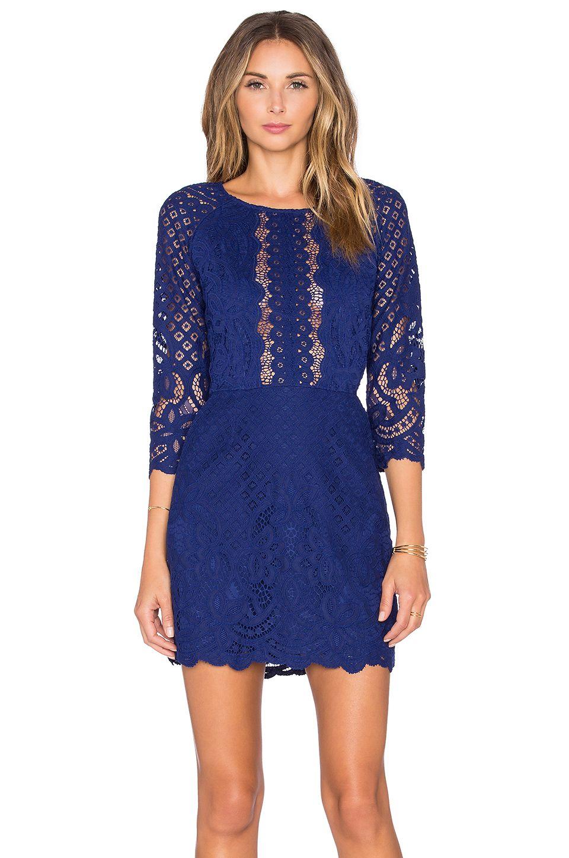 e39506ac7d7 SAYLOR Alexandra Dress in Deep Blue