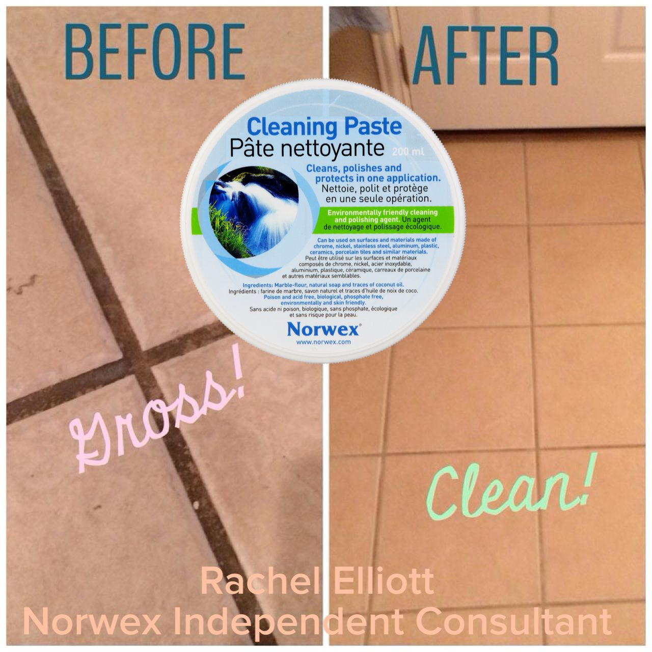 Norwex Cleaning Products: Norwex Cleaning Paste On Tile Grout. Www.oliviacallway
