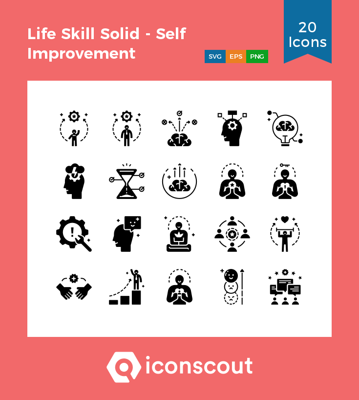 Download Life Skill Solid Self Improvement Icon Pack Available In Svg Png Eps Ai Icon Fonts Life Skills Icon Pack Self Improvement