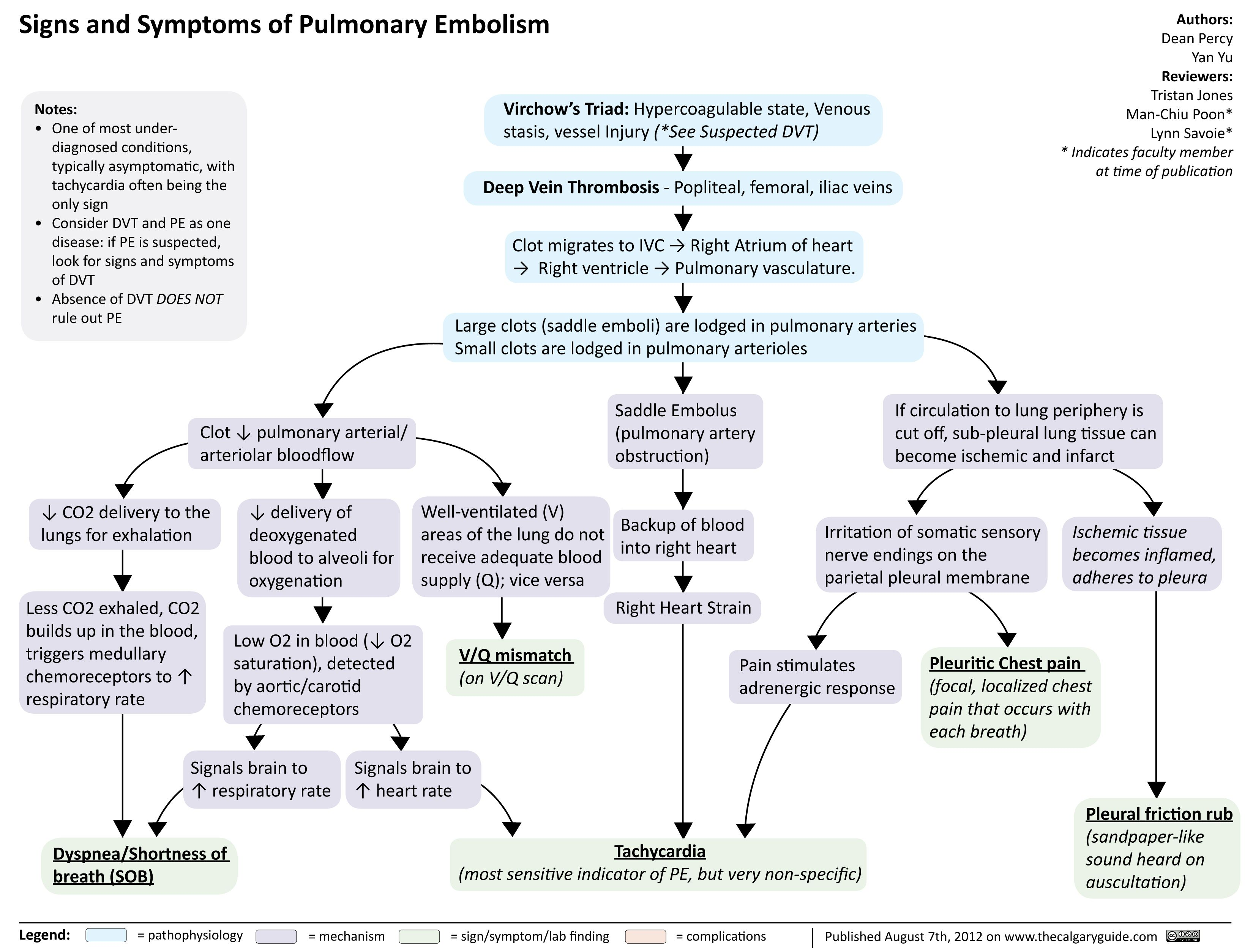 Pulmonary Embolism Signs And Symptoms