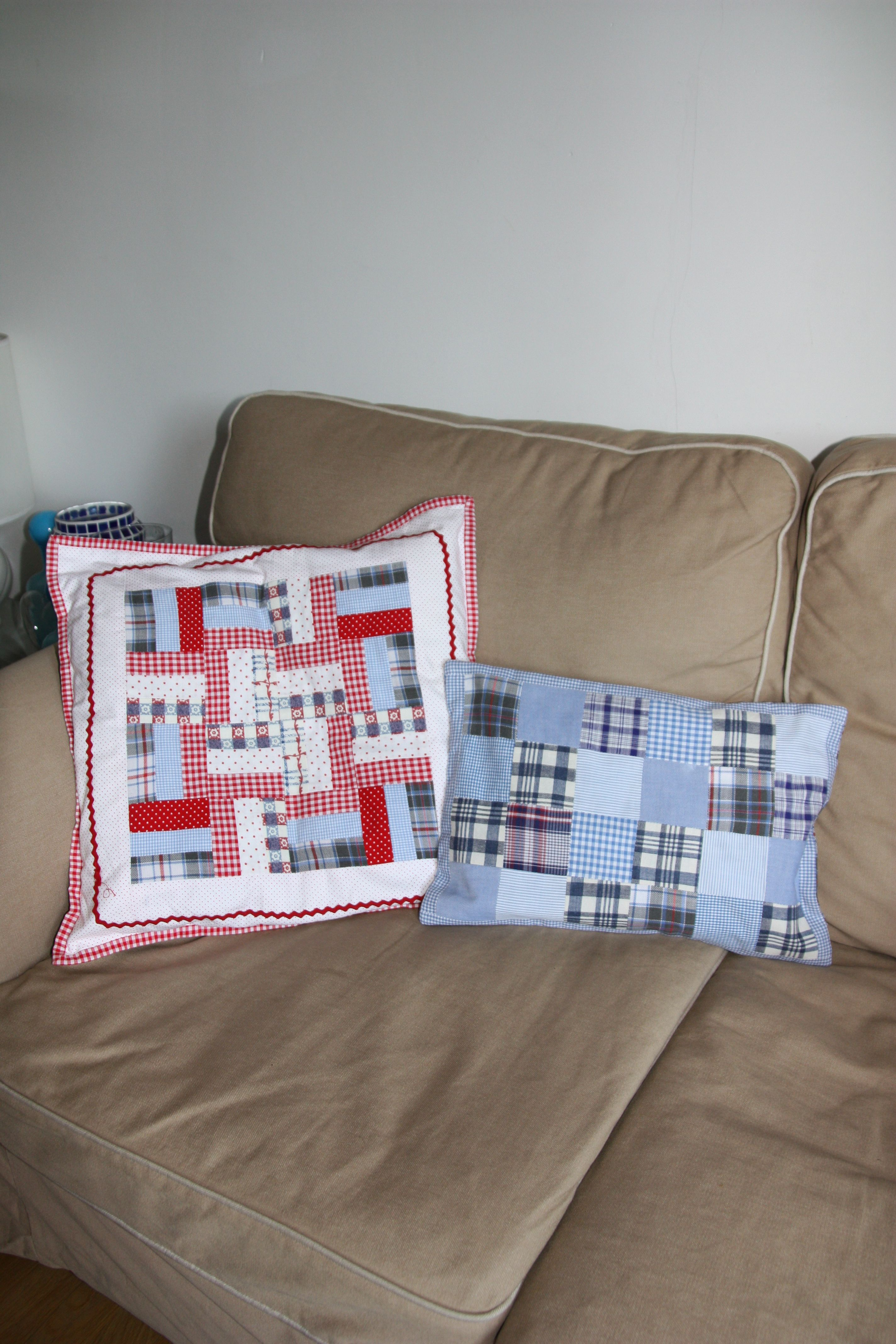 scrap patch pillows