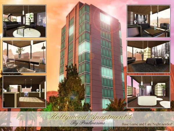 Hollywood Modern Luxurious Apartment Iv By Pralinesims Sims 3 S Cc Caboodle