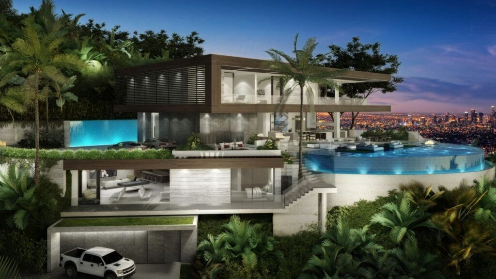Hollywood Hills Stanley Modern Home Concept By Ir Architects In 2020 Futuristic Home Architecture Mansions