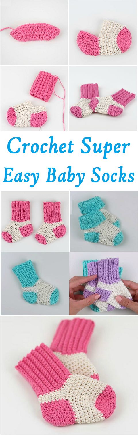 Crochet-Super-Easy-Baby-Socks-1 | Crochet-Misc. | Pinterest | Häkeln ...