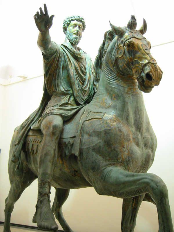 marcus aurelius equestrian statue roma capitoline museums