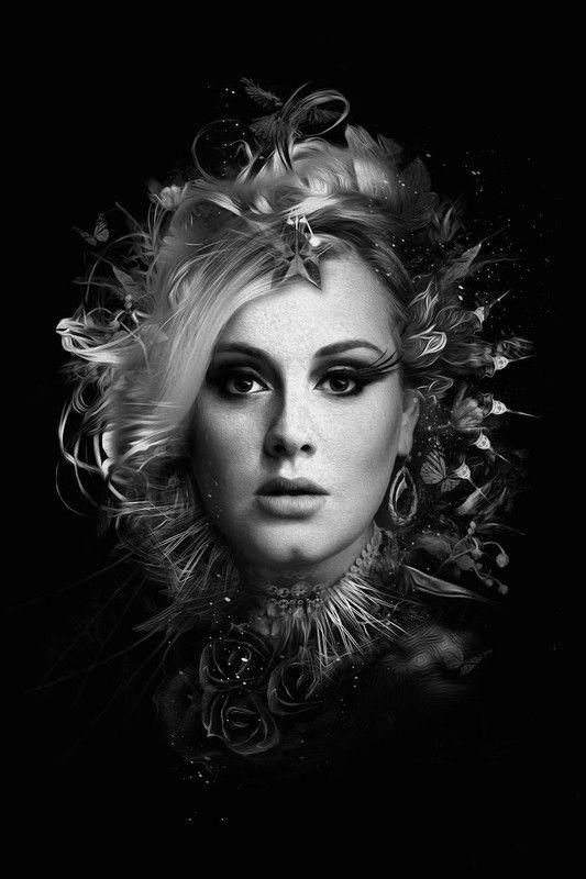 """Par Nicolas Obery SéRIE en noir et blanc de chanteuses: """"The Dark Side of Divas"""""""
