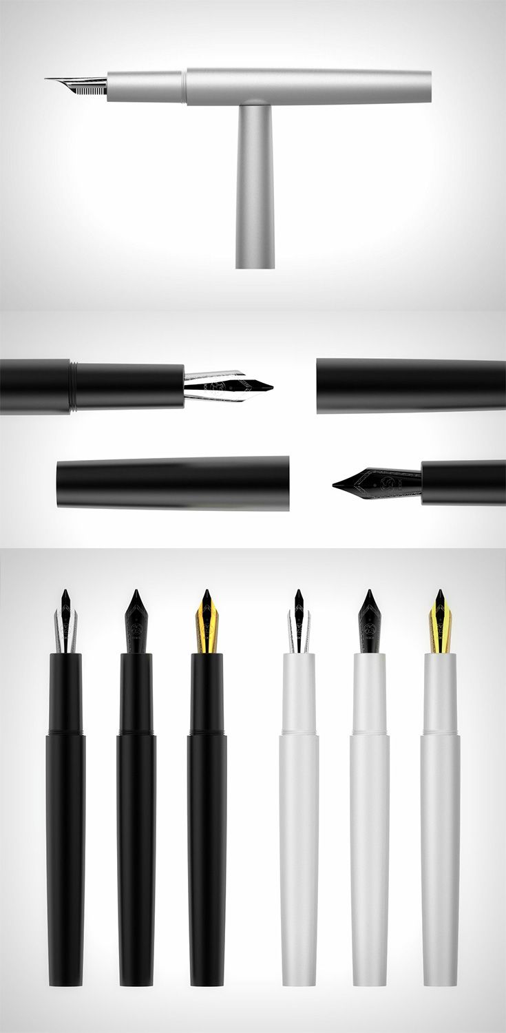 The 'ZERØ Fountain Pens' are so minimal they put all others to shame, when capped, they look like an otherworldly, unblemished, pure cylindrical  mass... READ MORE at Yanko Design !