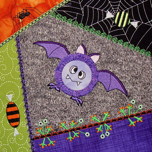 Piecing Quilt Blocks In the Hoop: Tips & Inspiration | Crazy quilt ... : halloween quilt blocks - Adamdwight.com