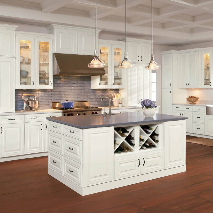 Kitchen cabinet style shop shenandoah mckinley 14 5 in x 14 5625 in linen square cabinet sample at lowes com