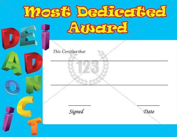 Most Dedicated Award Certificate Template Download Free | Certificate  Templates  Download Free Certificate Templates