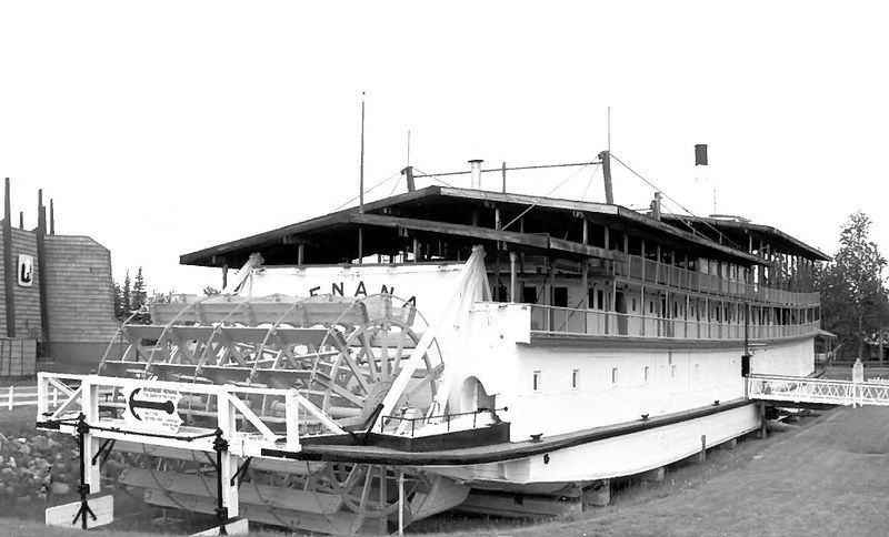 Nenana (steamer) Fairbanks, Alaska River steamboat; only surviving wooden one of this type