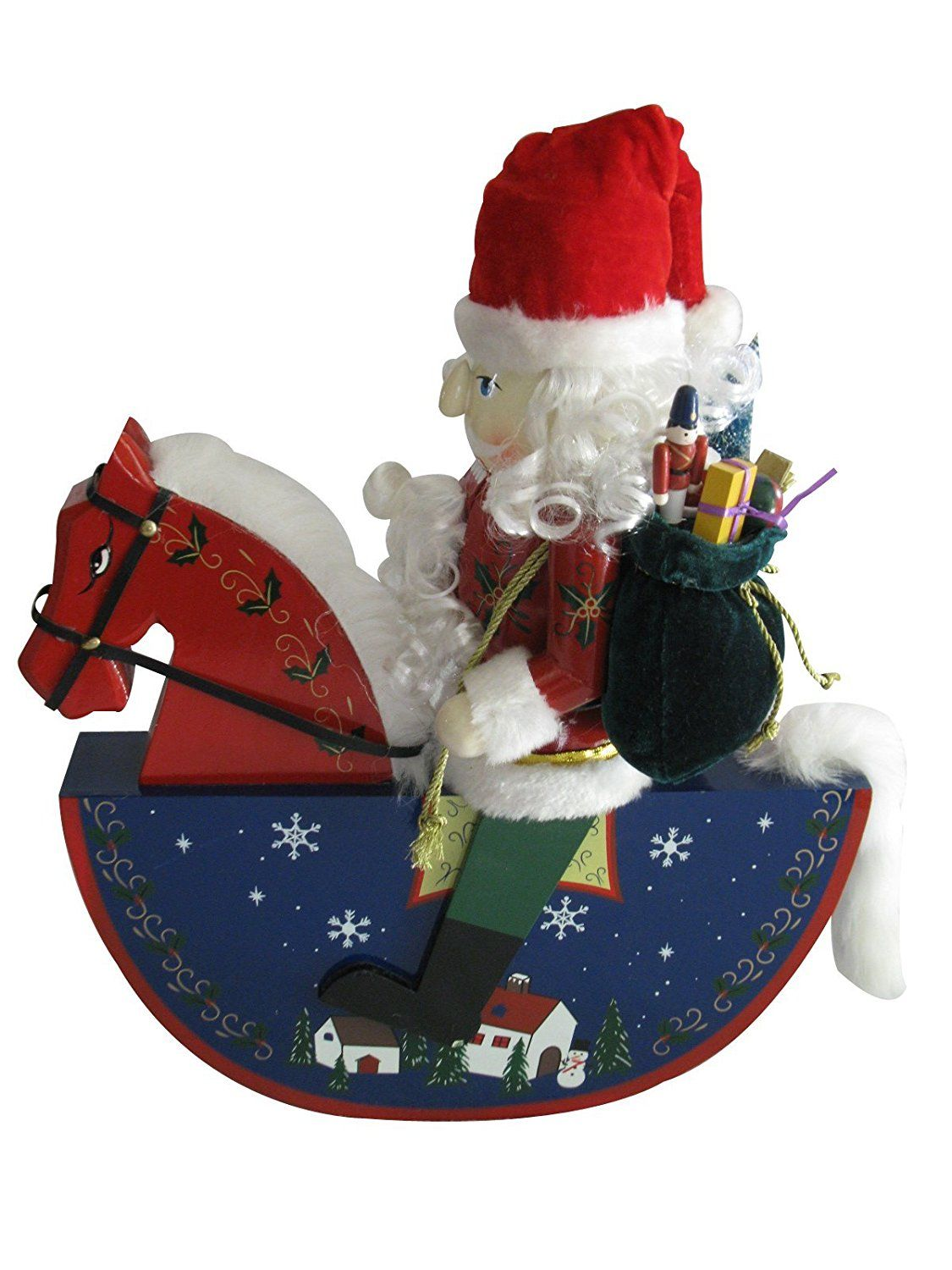 Kirkland Wooden Santa Rocking Horse 18 Inch Nutcracker Haven T You Heard That You Can Find More Wooden Santa Nutcracker Christmas Decorations Rocking Horse