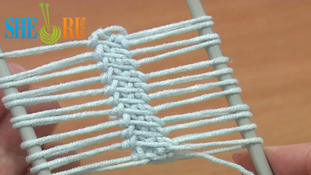 Hairpin Lace Strip Beautiful Cord In The Middle Tutorial 16 Single ...