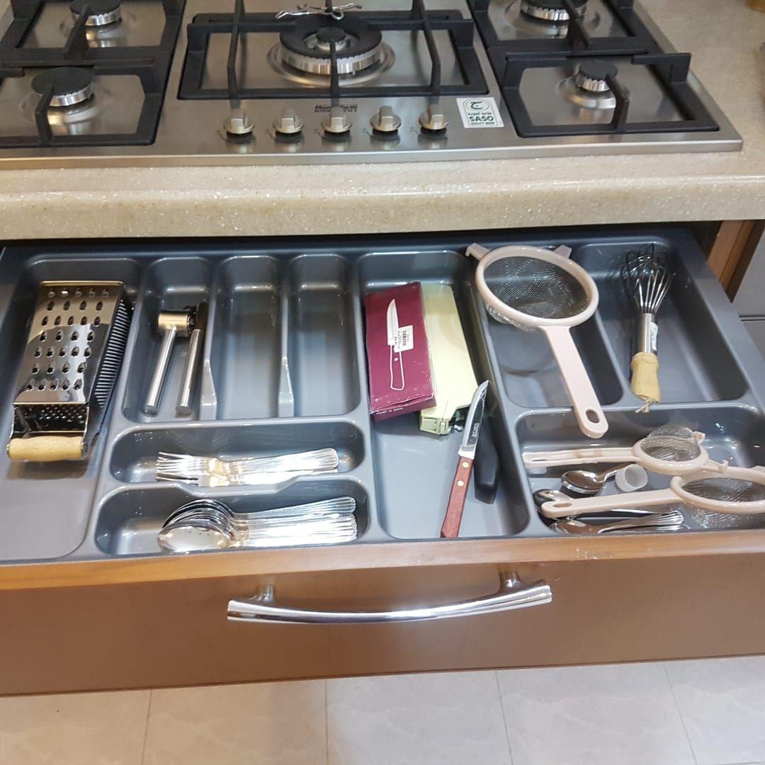 تقسيمات للملاعق Kitchen Flatware Tray Tray
