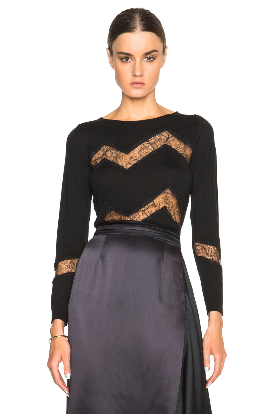 Laced knit dress Nina Ricci Cheap Reliable Amazon Discount Affordable 0o9W5