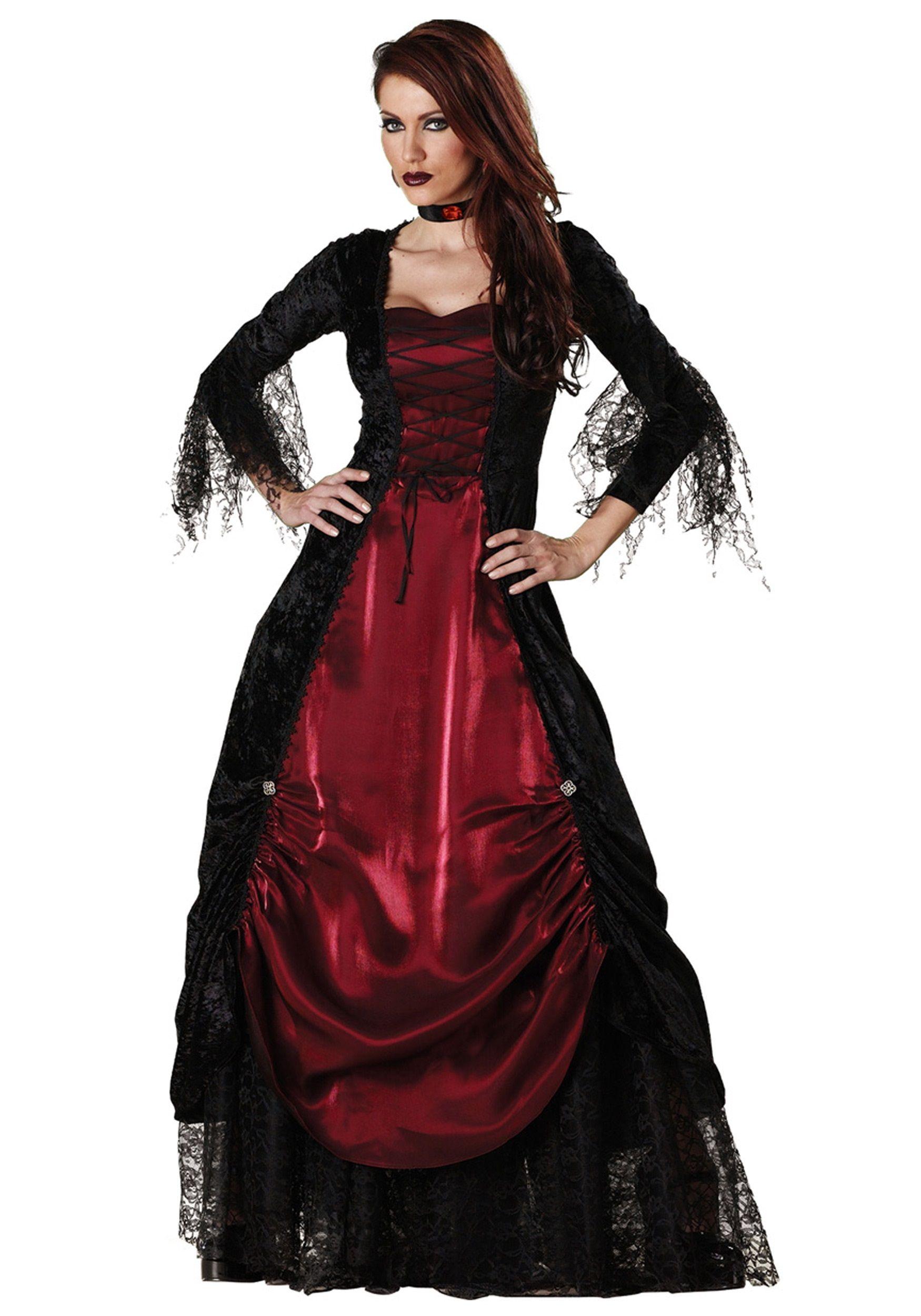 Deluxe Vampira Costume Halloween fancy dress, Gothic