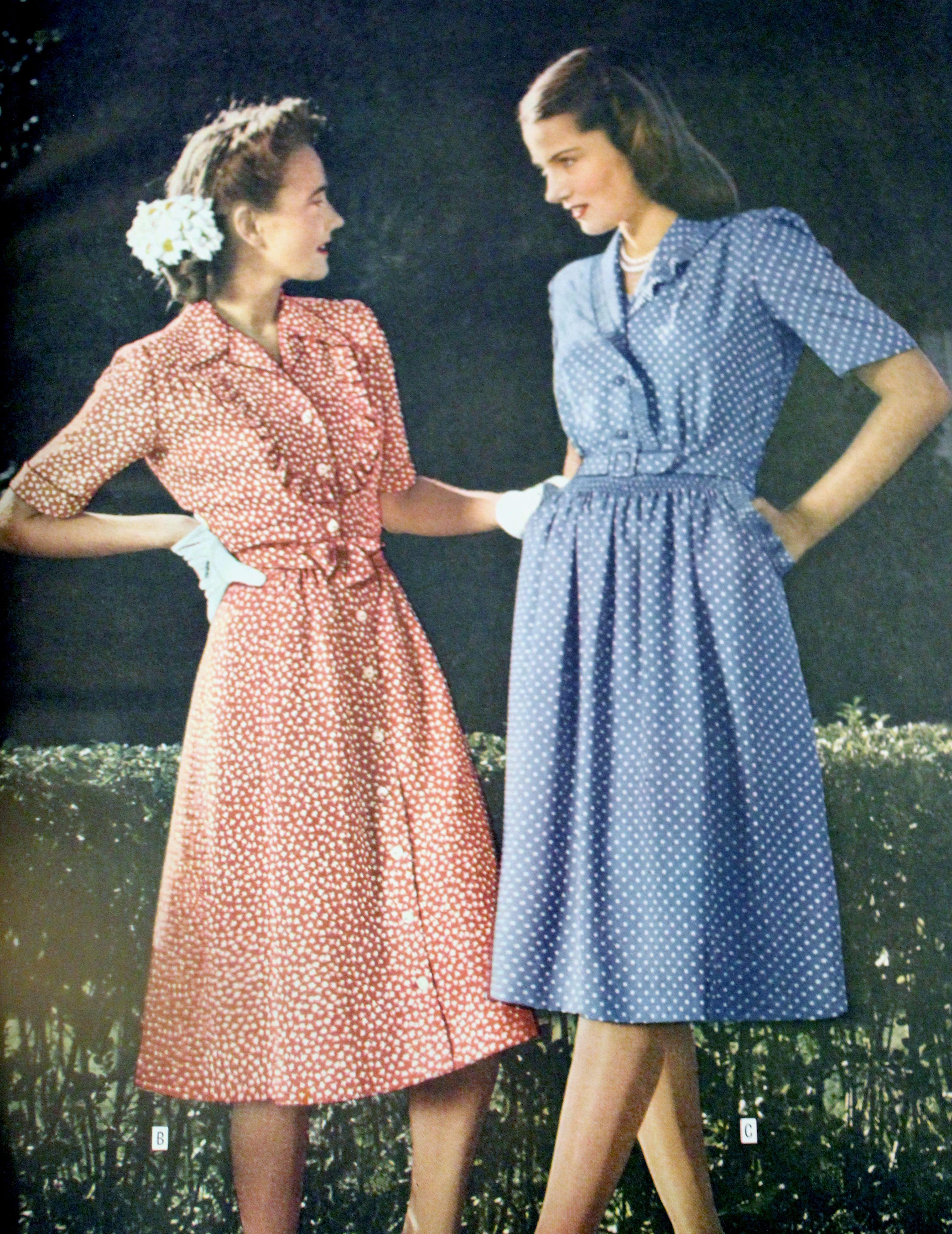 1940s Shirtwaist Dresses