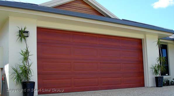 Steel Lines Ranch Sectional Garage Door Garage Doors Pinterest