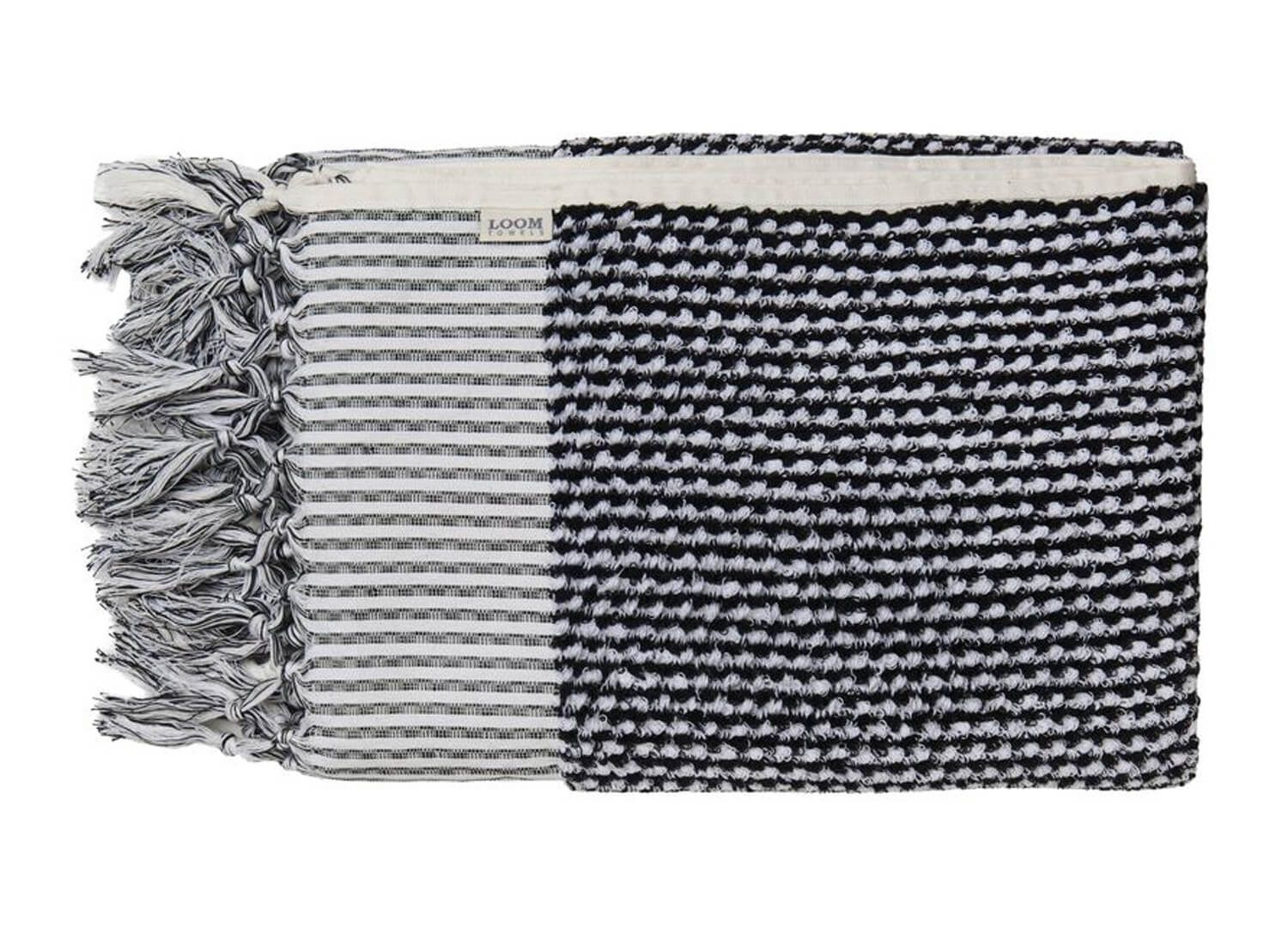 Loom Black And White Weave Bath Towel Creative Interiors Ideas
