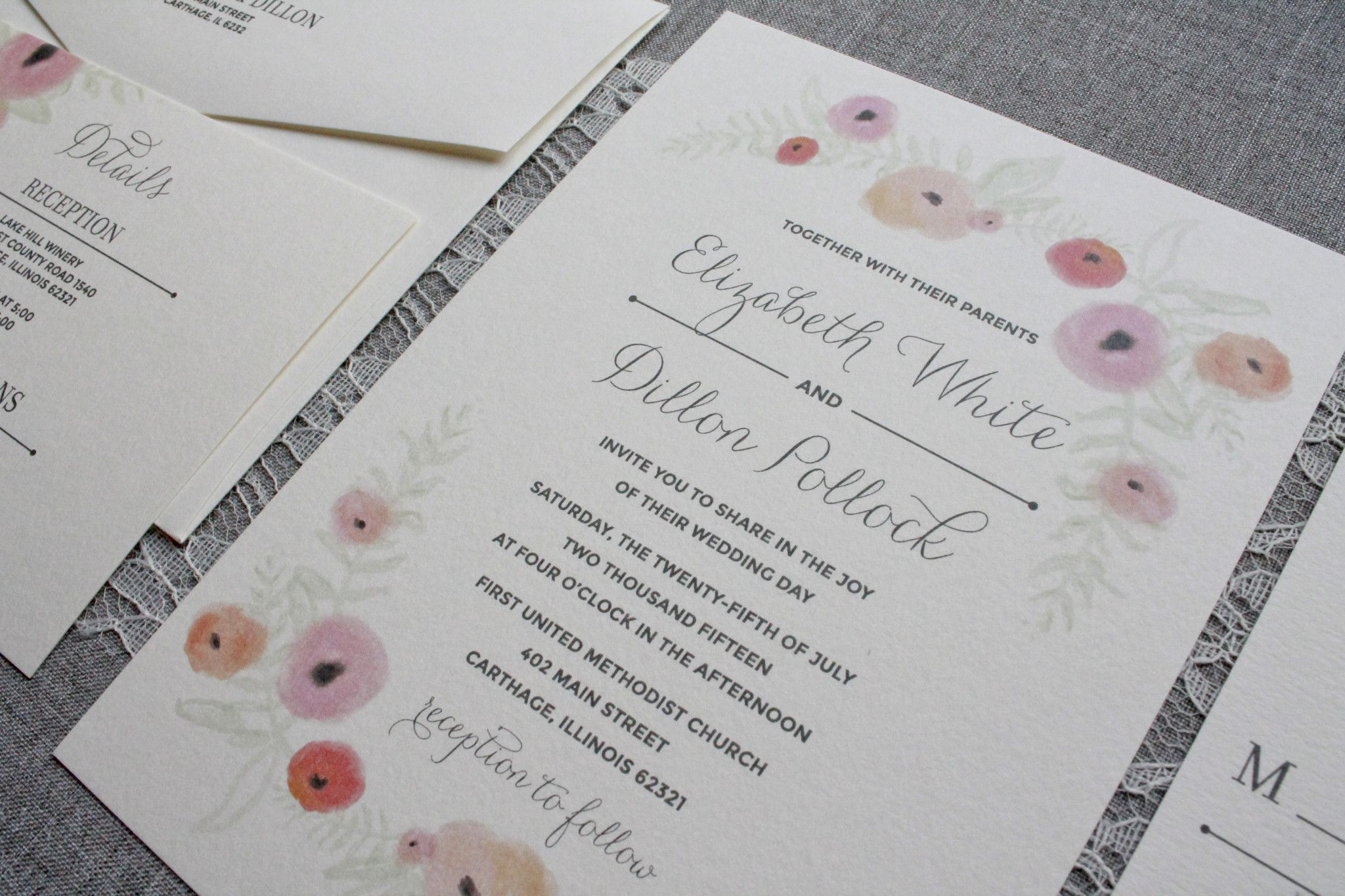 small wedding ceremony invitations%0A I u    ll admit it  I have a small obsession with watercolors this wedding  season  The couple that inspired this invitation was dreaming of a  wildflower filled