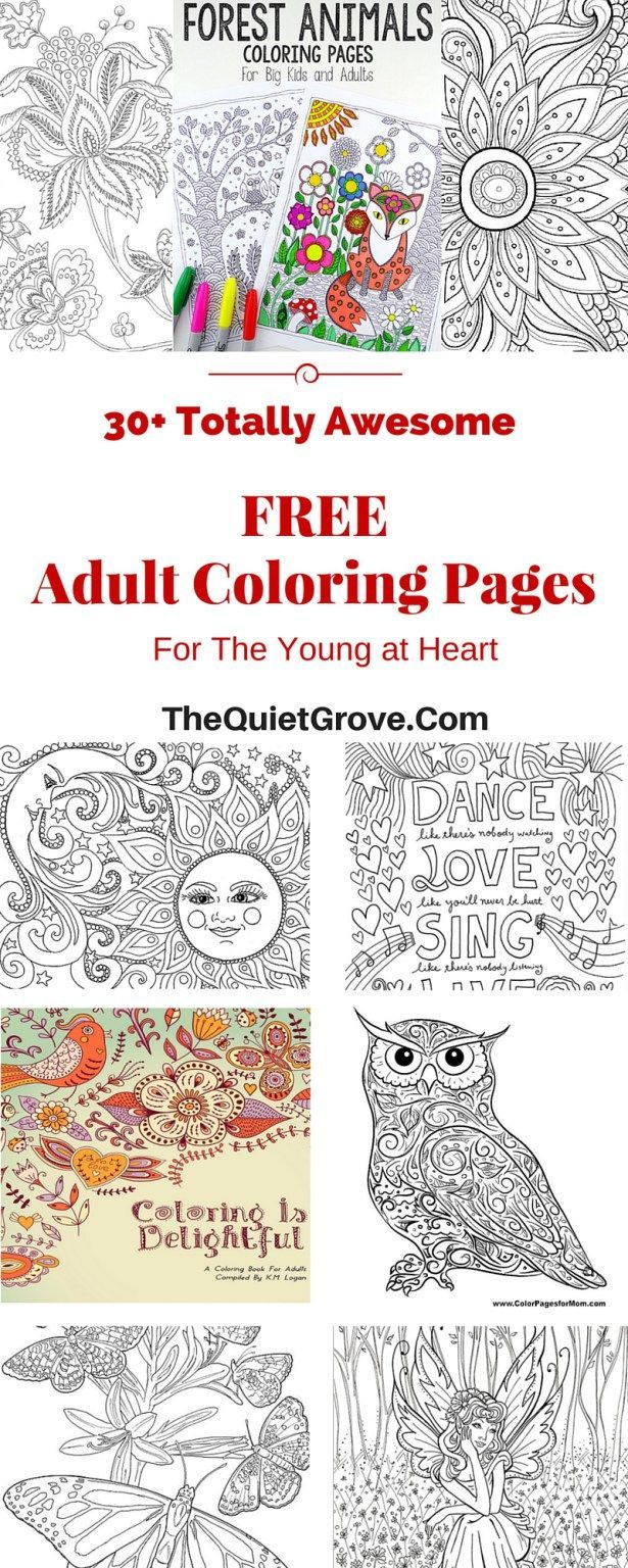 30+ totally awesome Free Adult Coloring Pages | Adult coloring pages ...