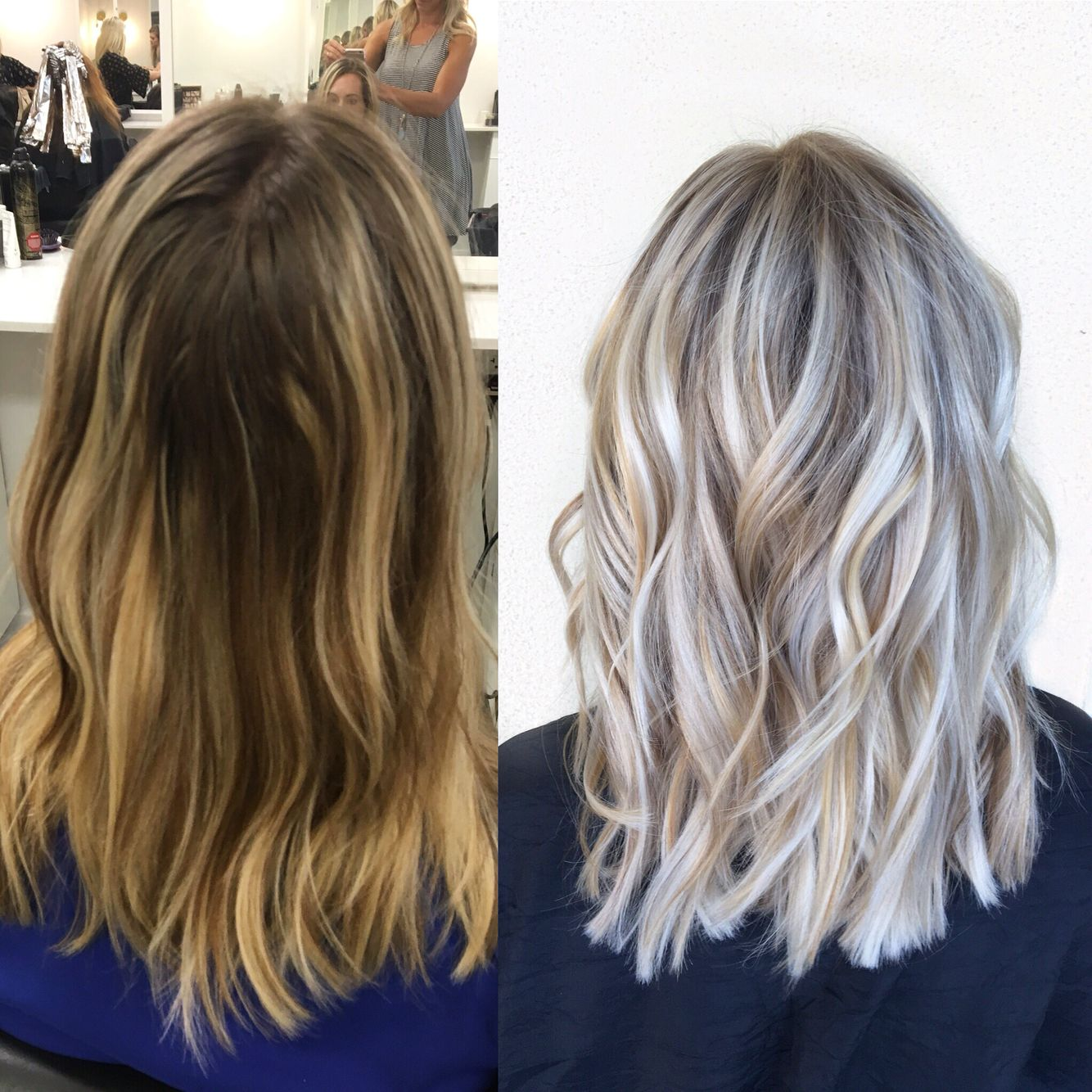 Done by alexaa at habit salon in gilbert az ash blonde cool