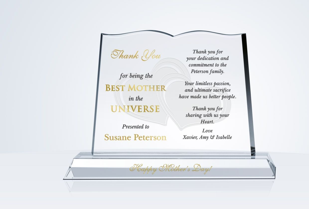 Happy Mother S Day Gift Plaque With Images Happy Mothers