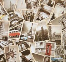 32 PCS 1 Set Vintage Retro Old Travel Postcards for Worth Collecting - I want to make a poster using retro postcards
