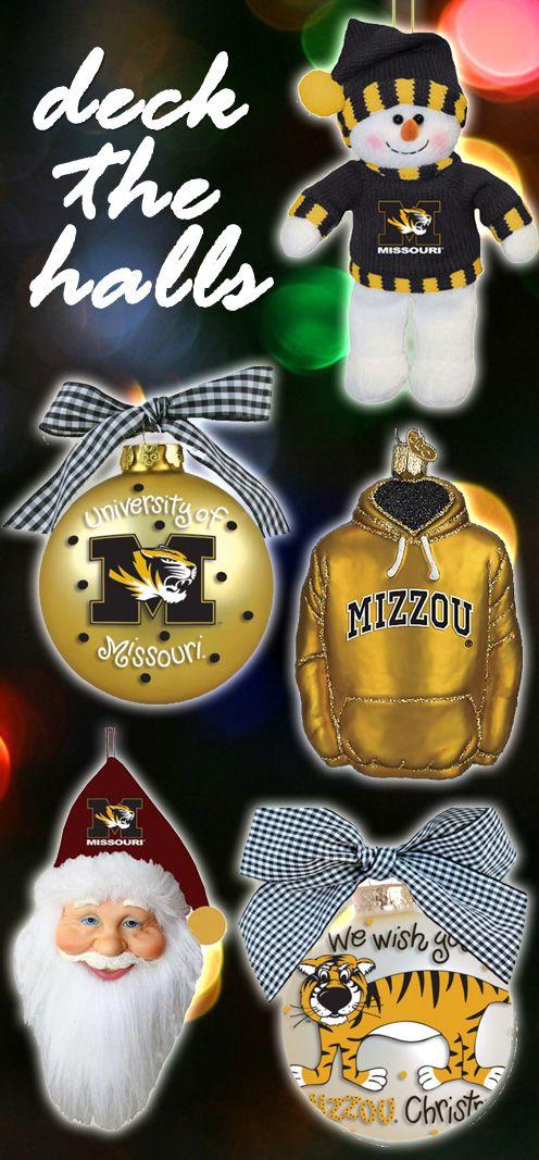 University of Missouri Mizzou Tigers Christmas Ornament