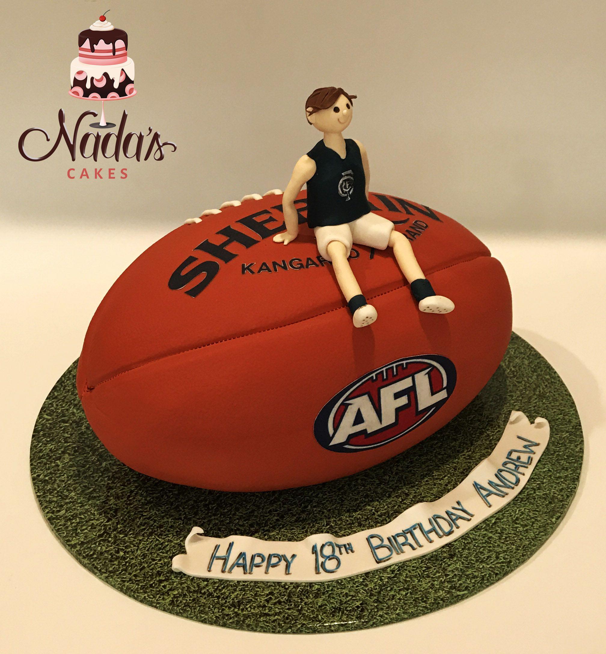Carlton Football Birthday Cake Sculptured Cakes Pinterest