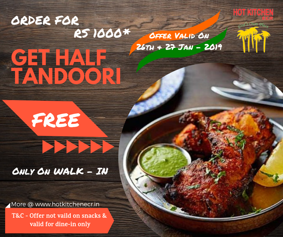 Time To Celebrate 70th Republic Day Hot Kitchen Ecr Tandoori Restaurant Bbq Menu Chinese Restaurant